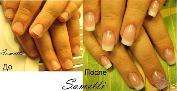 Нарощенные ногти на маленькие ногти