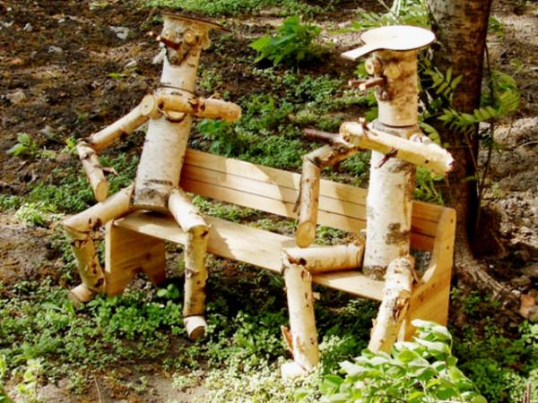 Украшения для сада из дерева своими руками