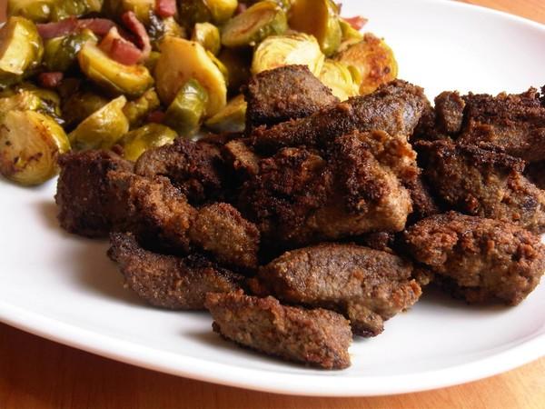 Простой и вкусный говяжьей печени с фото