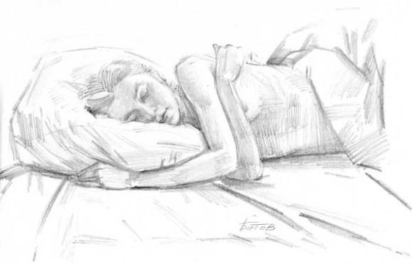 Как рисовать человека который спит