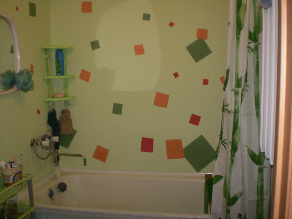 Покрасить ванную комнату своими руками фото