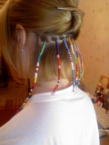 Как сделать косу перья