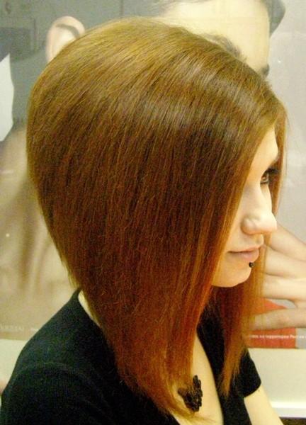 Стрижка короткий боб на длинные волосы