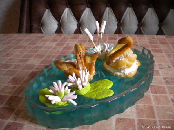 Пирожное лебеди рецепт с пошаговыми