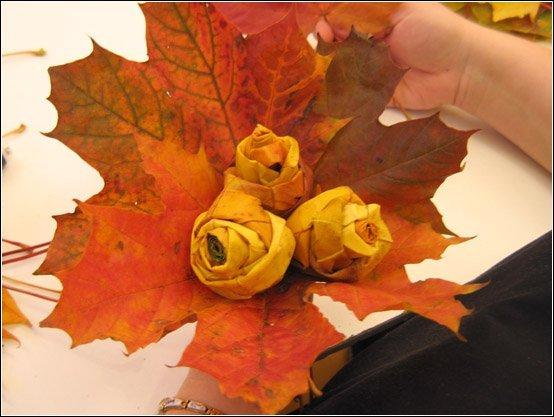 Поделки из осенних цветов фото