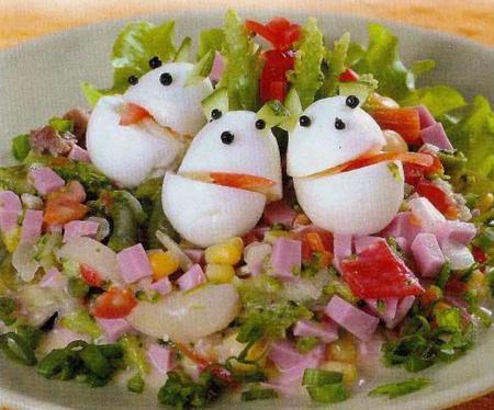Детские салаты из овощей