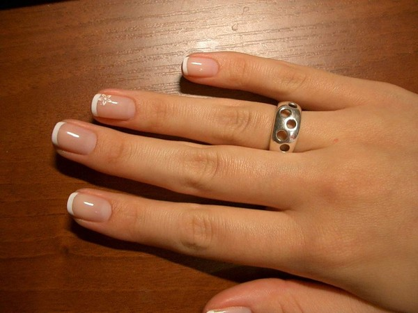 наращивание ногтей коротких фото
