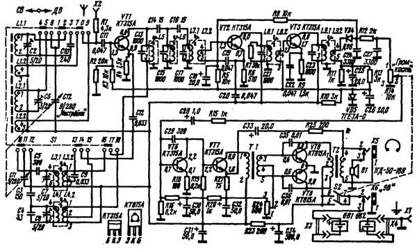 Радиоприемник альпинист 404 схема