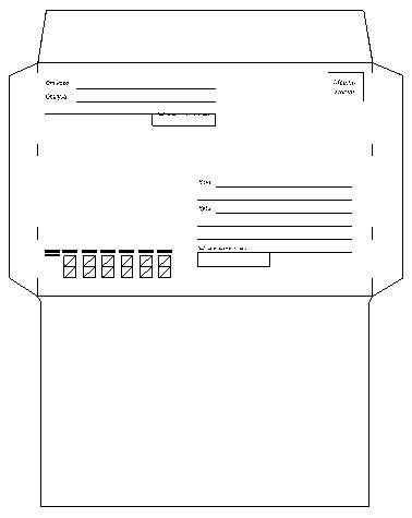 Почтовые конверты шаблоны распечатать