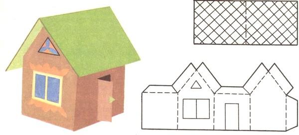 Домик из картона и бумаги для детей