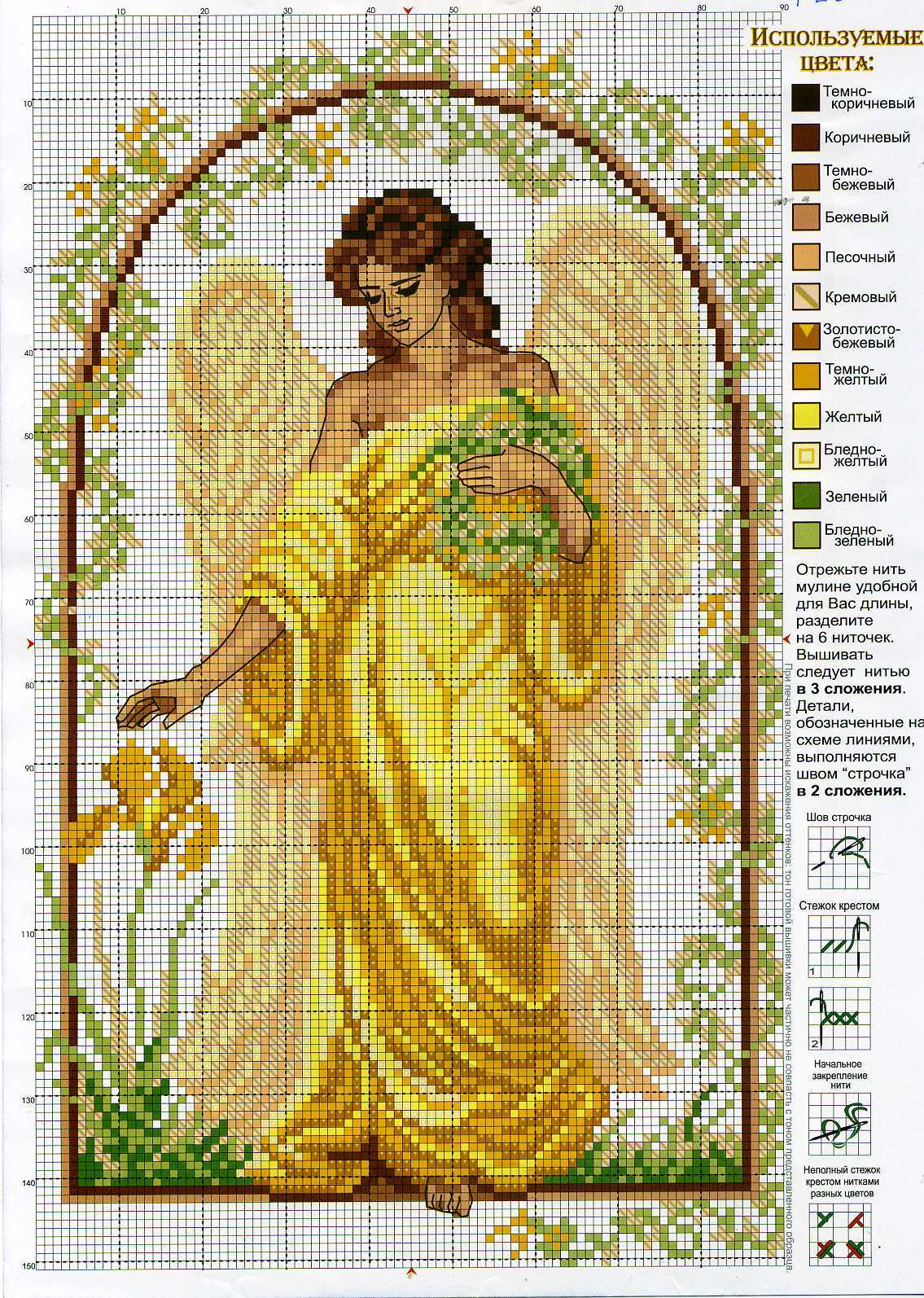 Схема вышивки крестом: ангелы скачать бесплатно Надо 6