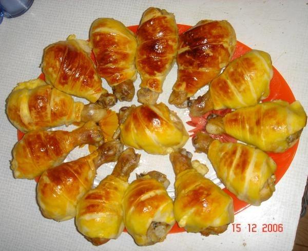 Голень в слоеном тесте в духовке рецепт с пошагово