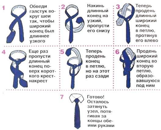 Как Завязывать Галстук На Блузке