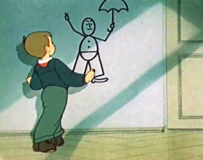 Мультфильм с зайчиком который рисует