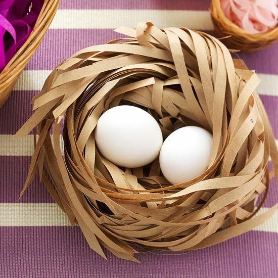 Из чего сделать гнездо для поделки