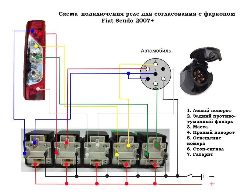 Блок согласования для фаркопа своими руками схема на транзисторах