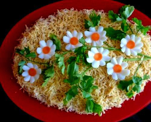 Украшение салатов и рецептами