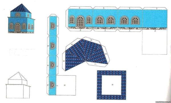 Макет дома схемы