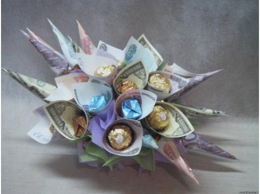 Букеты на свадьбу из денег