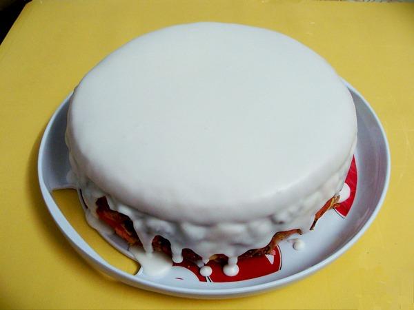 Белая глазурь для торта рецепт с фото пошагово