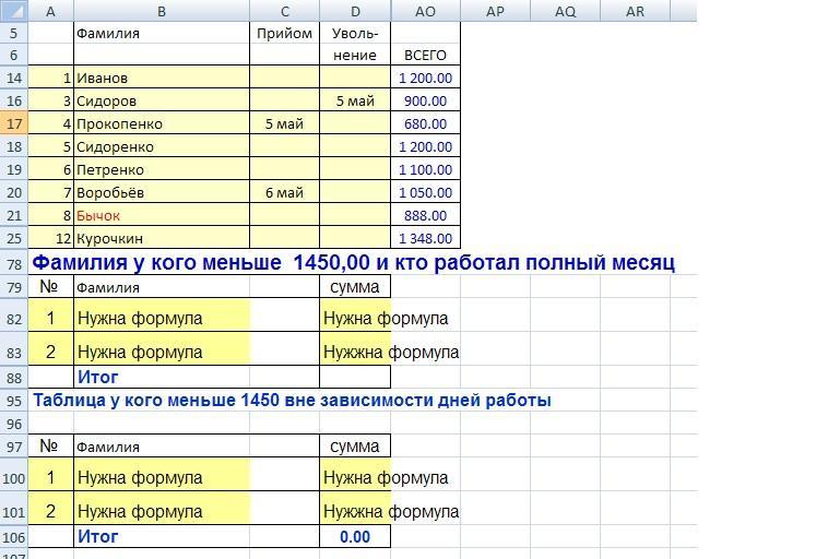 Как сделать формулу суммы