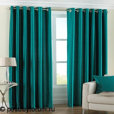 Black and green curtains 2