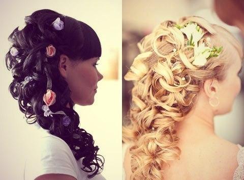 Свадебная прическа своими руками на средние волосы фото