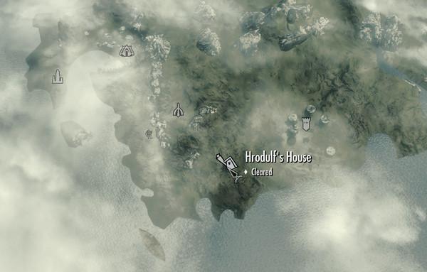 Где в скайриме находится дом хродульфа в скайриме на карте