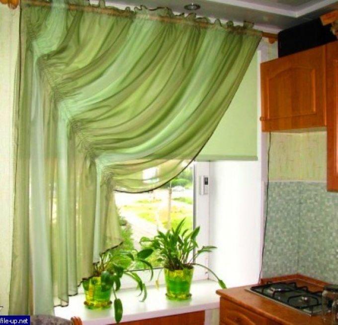 Фото штор для кухни своими руками с