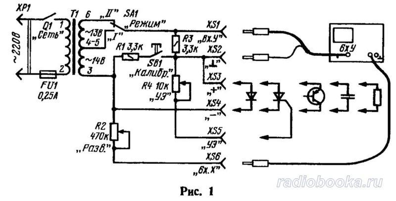 Характериограф для транзисторов