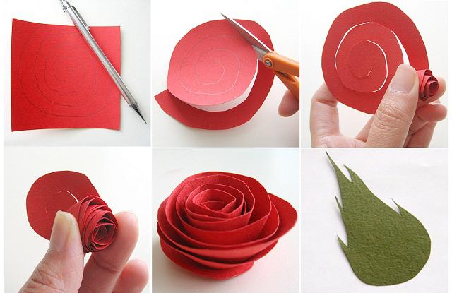 Как делать бумажные розы своими руками