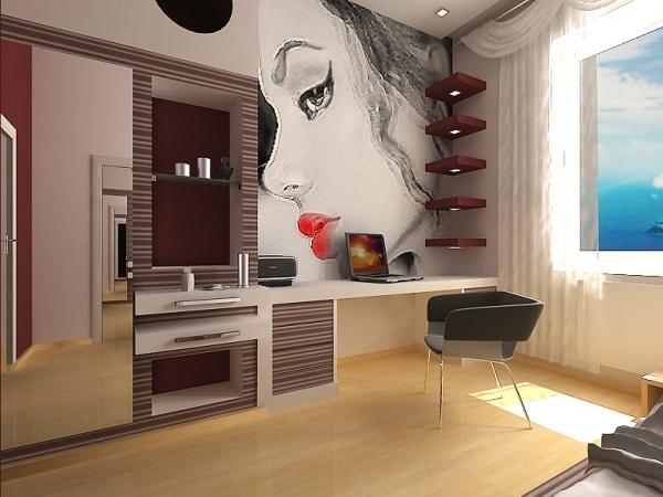 Ремонт в комнате девушки