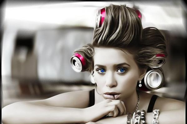 Прическа банки в волосах
