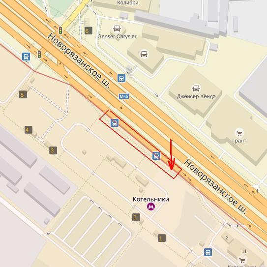 Схема транспортной развязки на новорязанском шоссе