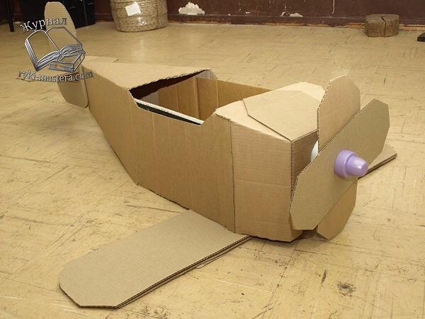 Как сделать самолет из коробки