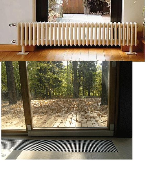 Если окно до пола как сделать отопление