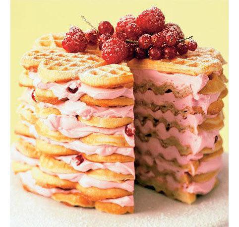 Рецепт торта с вафель