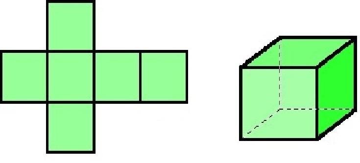 Как сделать развёртку куба из бумаги