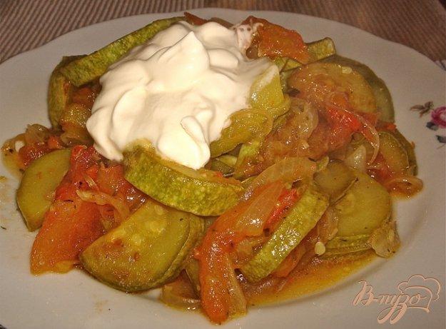 Тушеные кабачки с овощами с фото пошагово