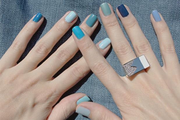 Маникюр разный цвет ногтей