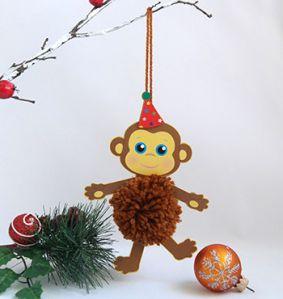 Новогодние игрушки на год обезьяны своими руками