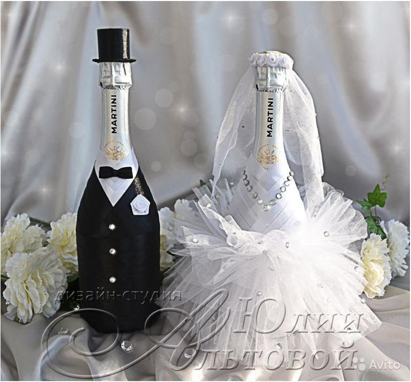 Шампанское на свадьбу своими руками жених и невеста фото