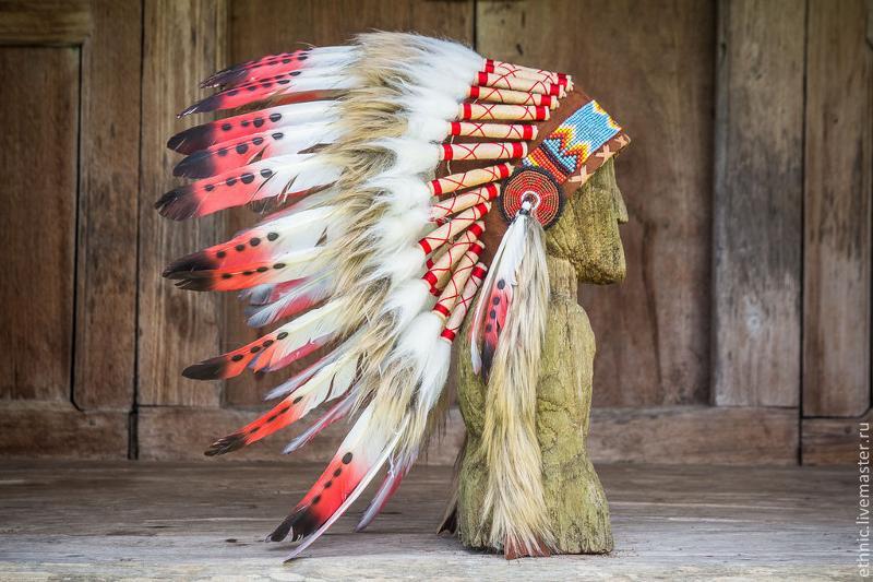 Головной убор индейца фото своими руками