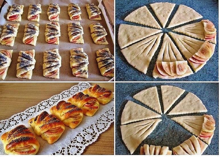 Выпечка слоеное тесто с яблоками рецепт