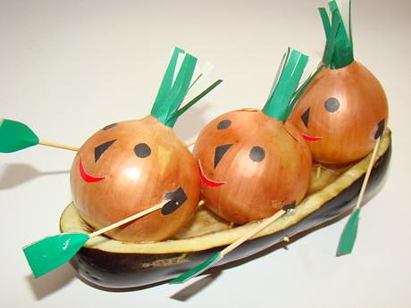 Осенние поделки своими руками из овощей для школы фото