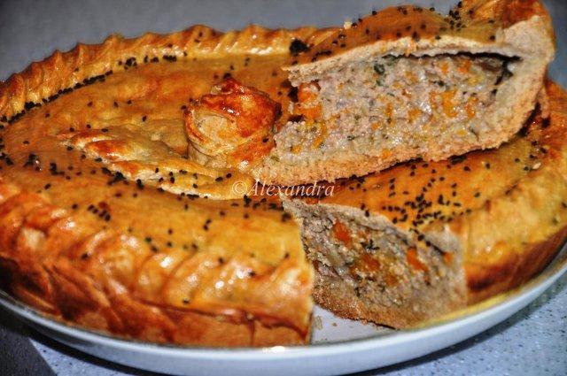 пирог с фаршем в духовке рецепт с фото
