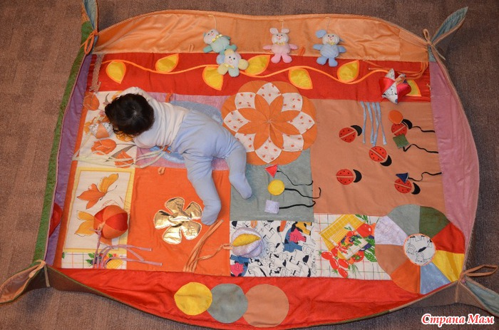 Сшить своими руками детский коврик
