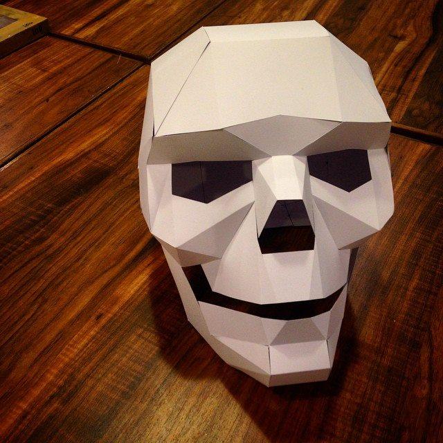 Как сделать маску череп