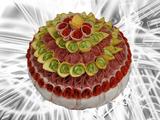 Фото рецепт мясного торта