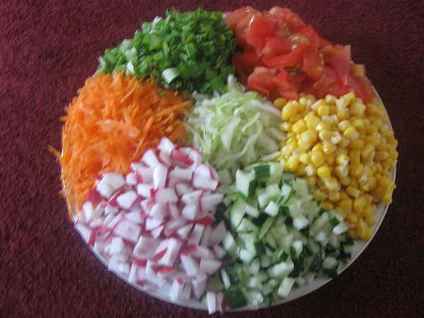 Как салат сделать тёплым 850